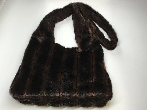 Faux Fur Brown Hobo Bag
