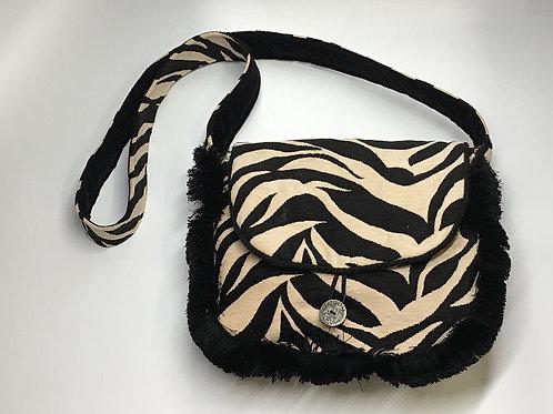 Black & White Zebra Large Shoulderbag