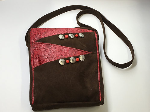Brown Red Saddlebag
