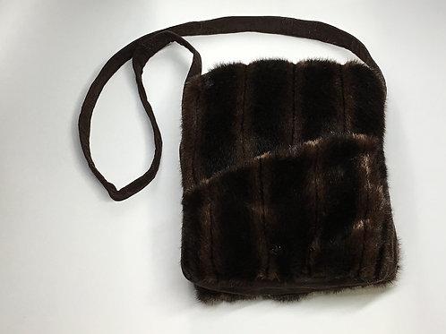 Faux Fur Brown Saddlebag