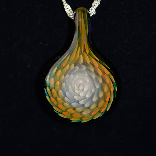 24K GOLD & PURE SILVER GLASS PENDANT