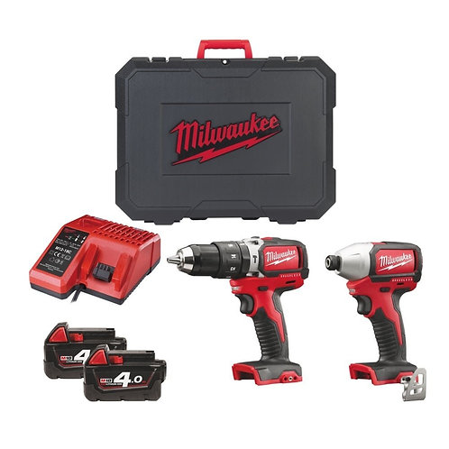 MILWAUKEE BRUSHLESS TWIN PACK DRILL & IMPACT DRIVER