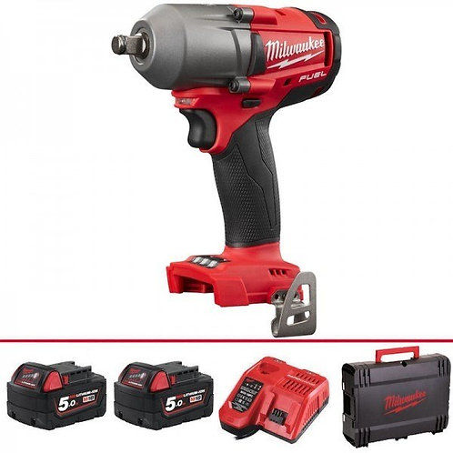 """M18 FUEL Mid-Torque 1/2"""" Impact Wrench with Friction Ring (M18FMTIWF12-502X)"""