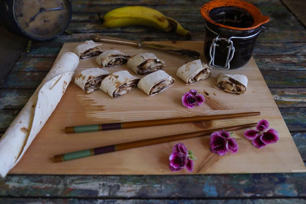 Banana Sushi Recipe Photography by Oded Houbara
