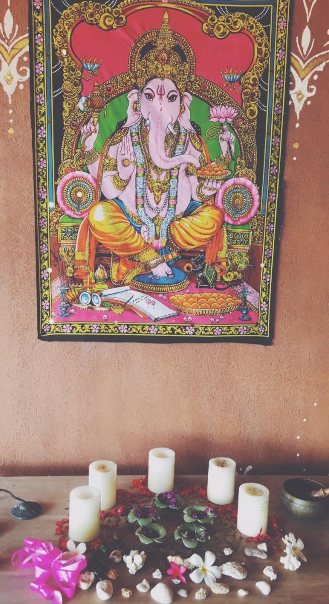 Ganesh on Santosha's Yoga Teacher Training course March 2016