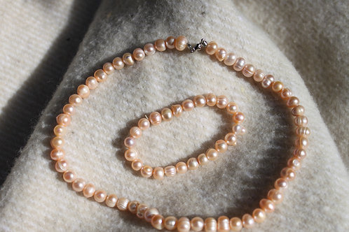 GYPSY WILD PEARLS SET baby-pink