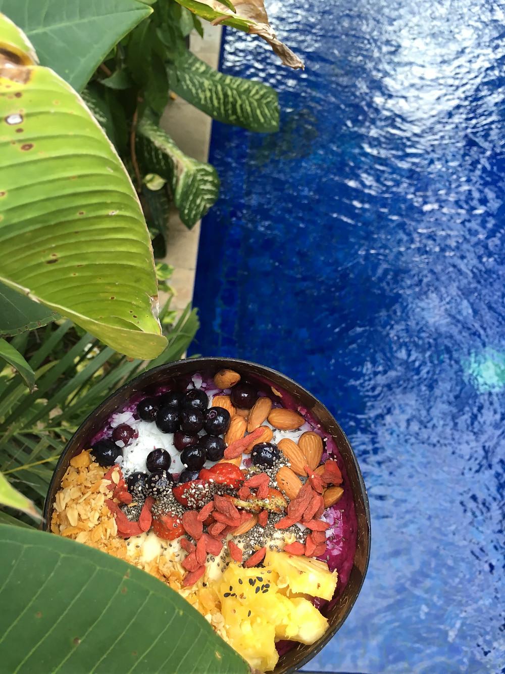 """""""Uluwatu"""" Smoothie Bowl at """"Nalu Bowls"""" Bali"""