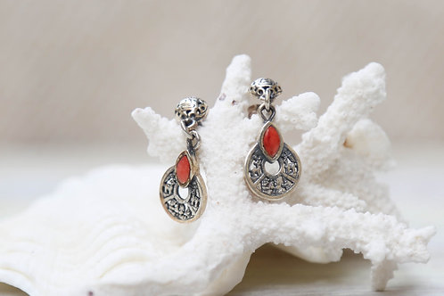 The Sun & the Sea Daughter Red Coral Earrings