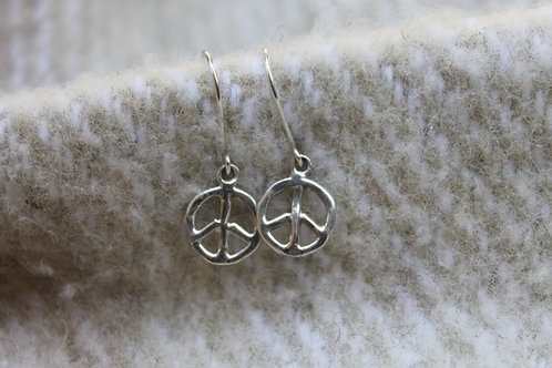 PEACE HAMMERED Earrings