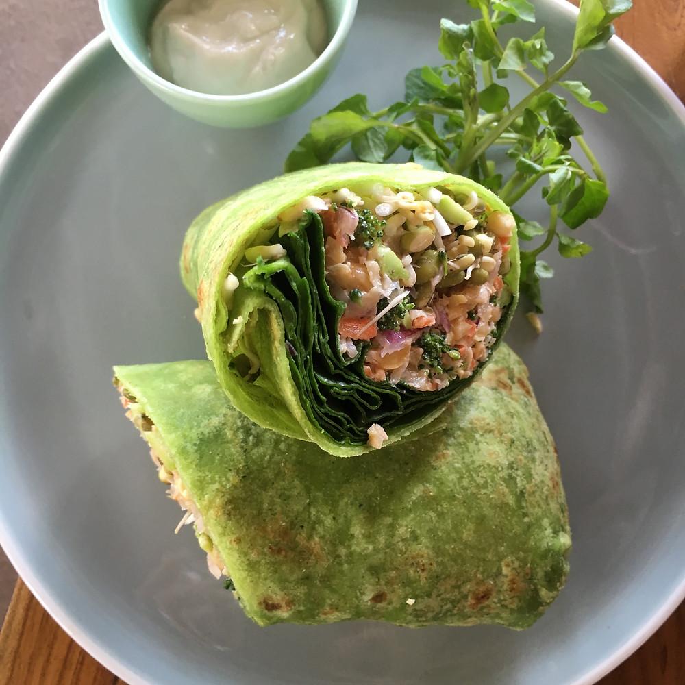 Breakfast Burrito at Shady Shack Bali