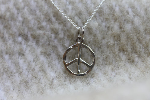 PEACE Hammered Pendant