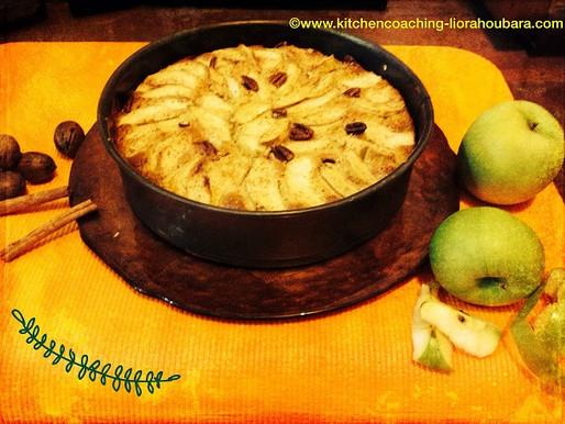 עוגת תפוחים ותבלינים מחממים
