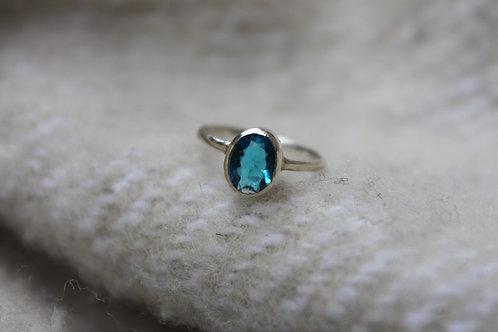 CRYSTALCLEAR BLUE TOPAZ Ring*