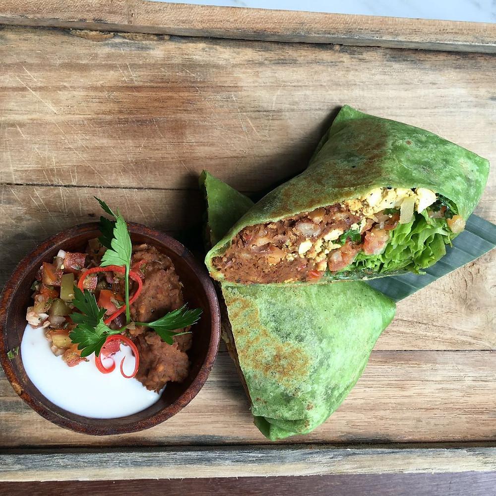 Breakfast Burrito at Peloton SuperShop Bali