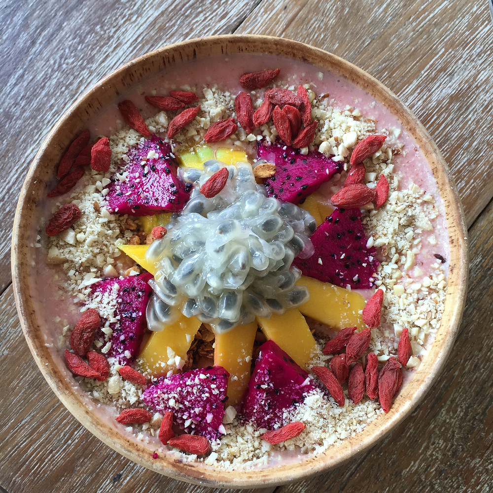 Pink Smoothie Bowl at Eden Cafe Bali