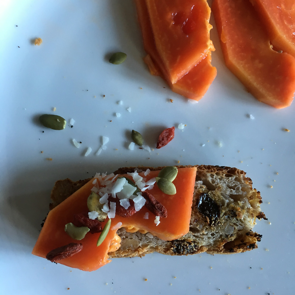 Fruits on Fruit Bread