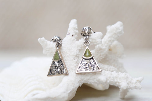 Serpentine Triangle Earrings