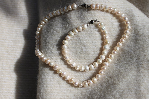 GYPSY WILD PEARLS SET cream