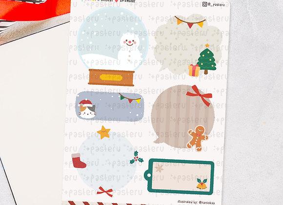 Cute Christmas Writable Labels - Digital Download