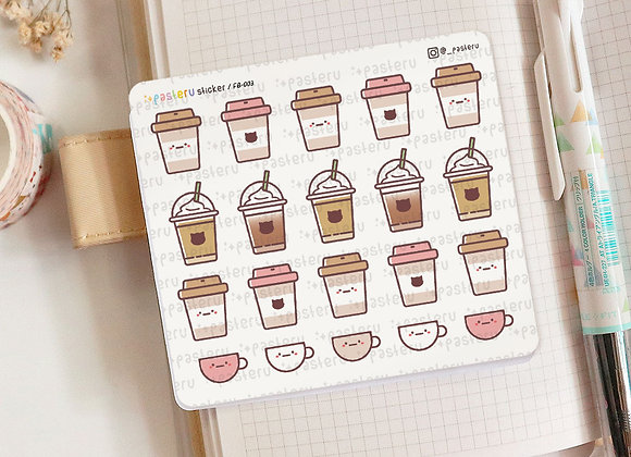 Cute Coffee Frappe Planner Sticker