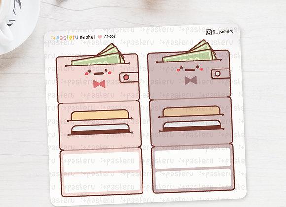 Kawaii Wallet Foldover Stickers