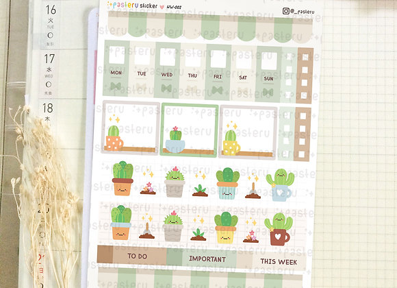 Kawaii Cactus - Hobonichi Weeks Kit