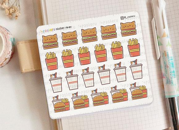 Cute Fast Food Burger Planner Sticker