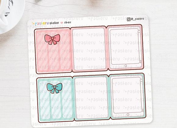 Kawaii Tablet / iPad Foldover Stickers