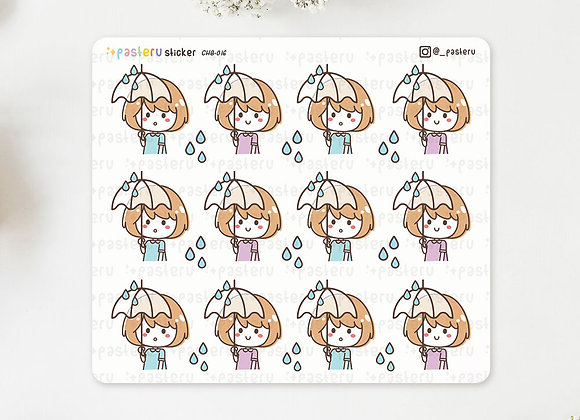 Raining Umbrella Stickers