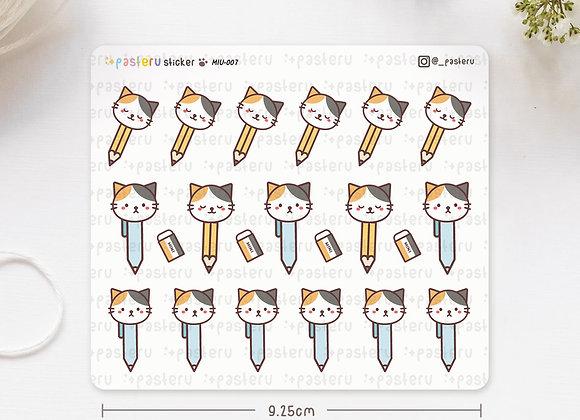 Pen Pencil Calico Stickers
