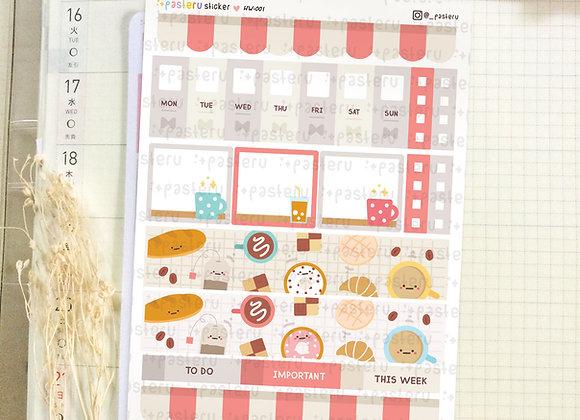 Kawaii Cafe - Hobonichi Weeks Kit