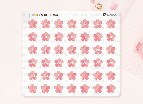 Number Date Sakura