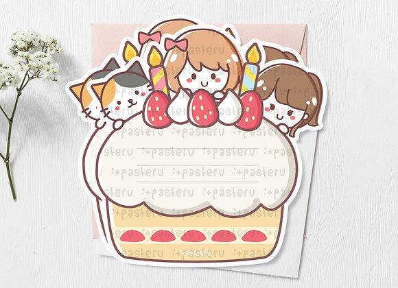 Anniversary Diecut Card - limited