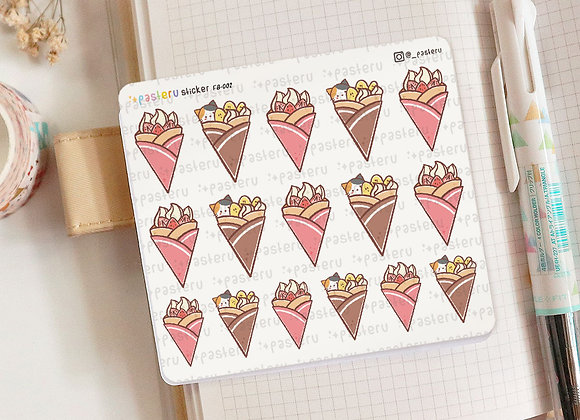 Strawberry & Banana Crepe Planner Sticker