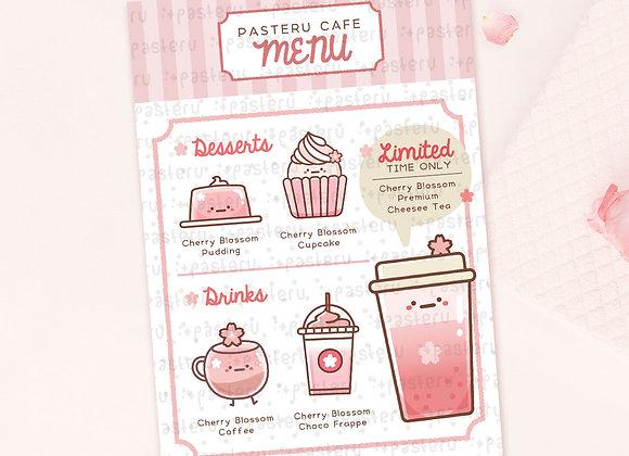 Spring Cafe Menu - Journaling Card