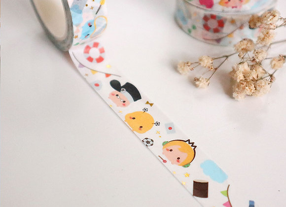 Tsumtsum Inspired Gold Foiled Washi Tape