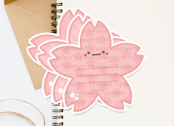 Cherry Blossom Message Diecut Card