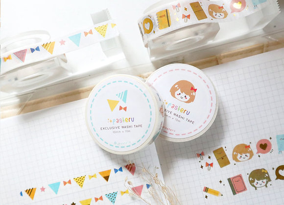 Pasteru 1.0 Gold Foiled Washi Tapes