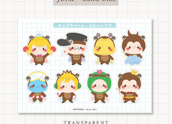 PRE-ORDER / JUMP Fanfare Unit Transparent Stickers