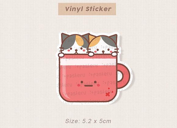 Calicos Big Mug Vinyl Diecut