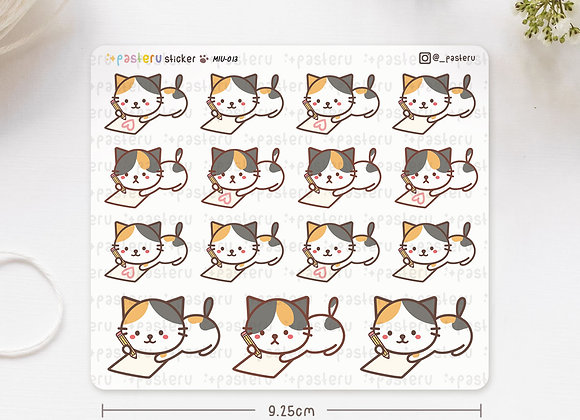 Writing Cat Stickers