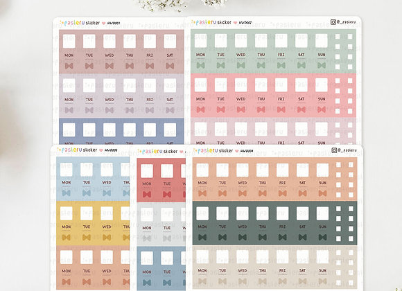 V.1 Day Hobonichi Weeks Sticker