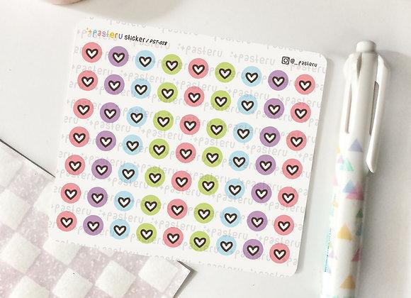 Tiny Circle Heart - 028