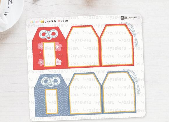 Kawaii Amulet Omamori Foldover Stickers