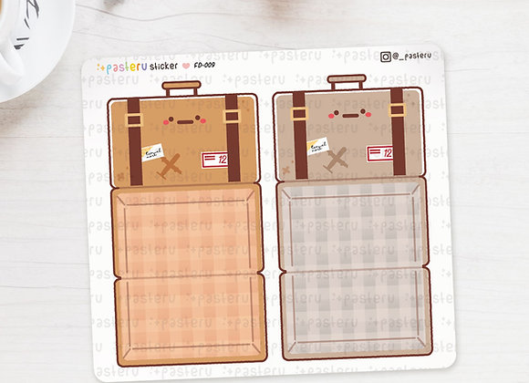 Vintage Suitcase Foldover Stickers