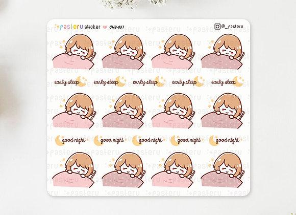 Sleep Night Ruru Stickers