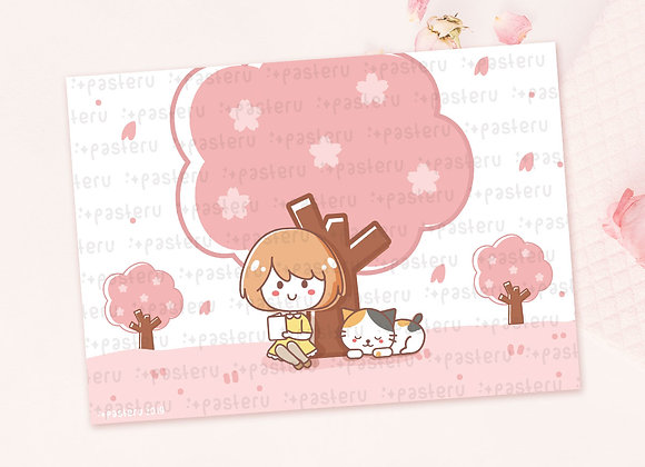 Hanami Ruru & Miu - Journaling Card