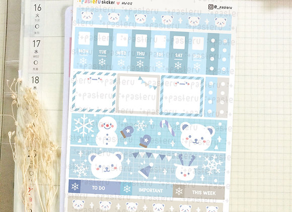 Kawaii Winter Bear - Hobonichi Weeks Kit