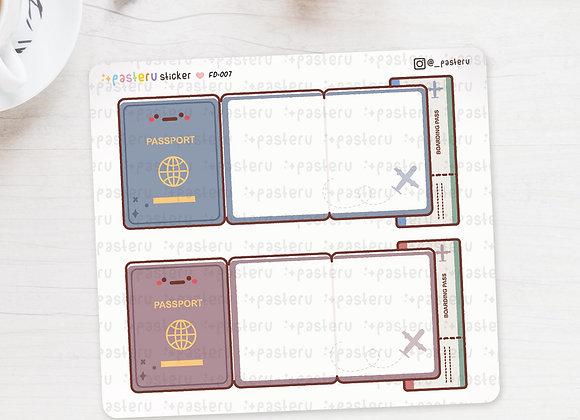 Kawaii Passport Foldover Stickers