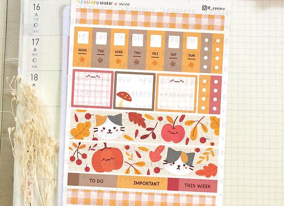 Cat Autumn - Hobonichi Weeks Kit